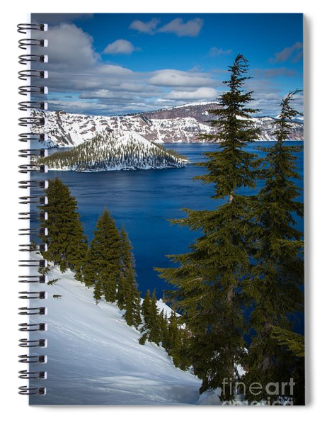 Winter At Crater Lake Spiral Notebook