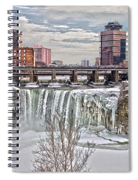 Winter At High Falls Spiral Notebook