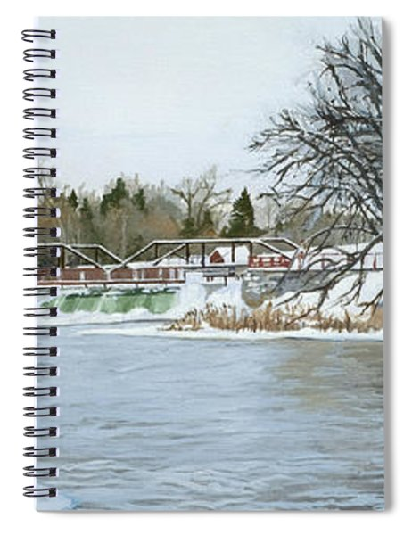 Winter At Phelps Mill Spiral Notebook