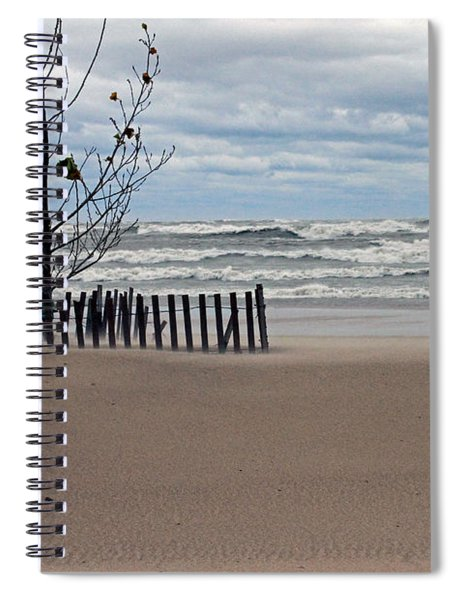 Winter Beach Spiral Notebook