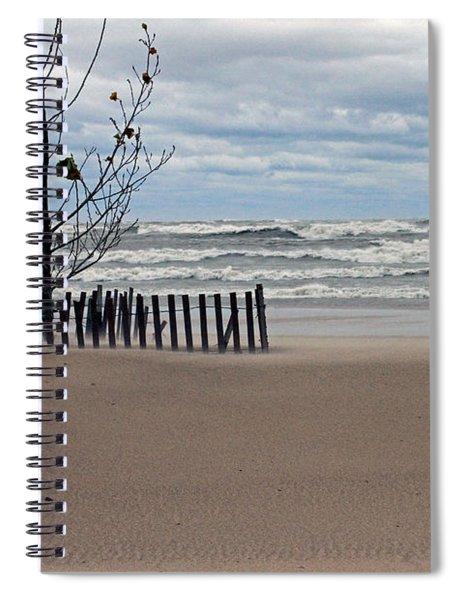 Winter Beach Spiral Notebook