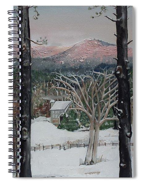 Winter - Cabin - Pink Knob Spiral Notebook