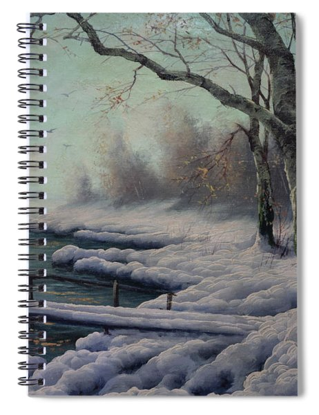 Winter Coming On The Riverside Spiral Notebook