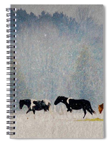 Winter Horses Spiral Notebook