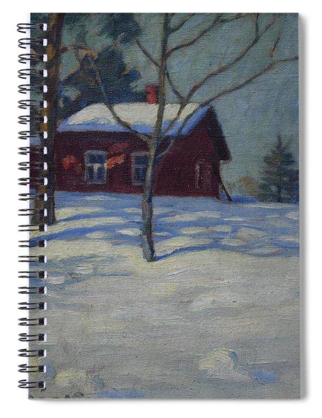 Winter House Spiral Notebook