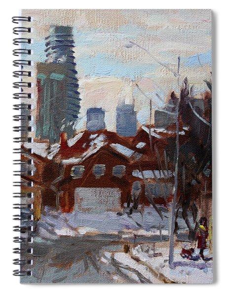 Winter In Mississauga  Spiral Notebook