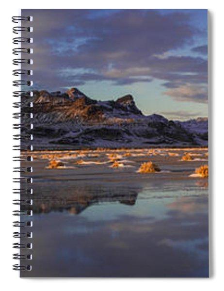 Winter In The Salt Flats Spiral Notebook