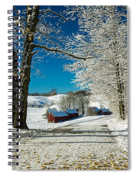Spiral Notebook featuring the photograph Winter In Vermont by Edward Fielding