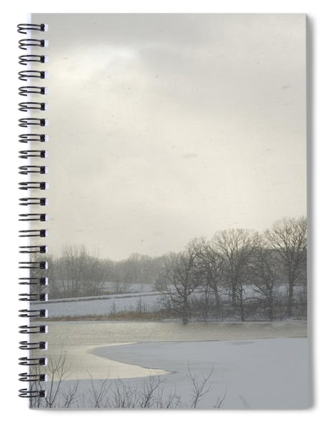 Winter Lake And Forest Spiral Notebook