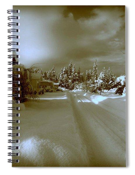 Winter Lane Spiral Notebook
