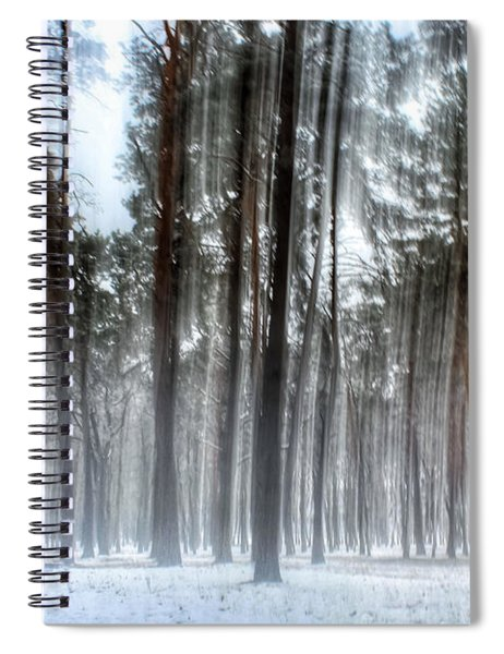Winter Light In A Forest With Dancing Trees Spiral Notebook