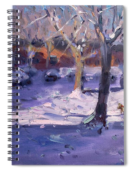 Winter Morning In My Courtyard Spiral Notebook