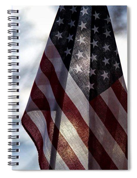 Winter Morning Patriotism Spiral Notebook