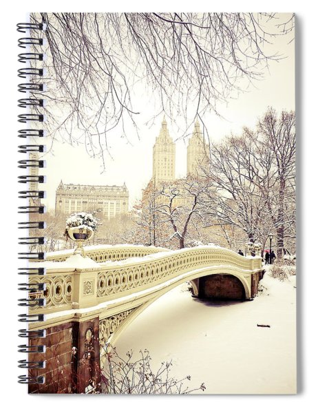 Winter - New York City - Central Park Spiral Notebook by Vivienne Gucwa