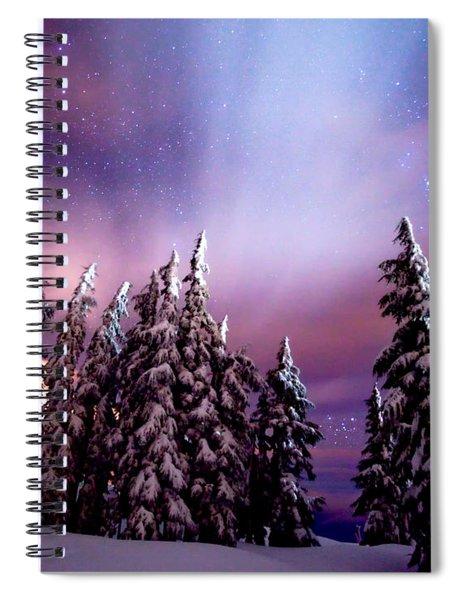 Winter Nights Spiral Notebook