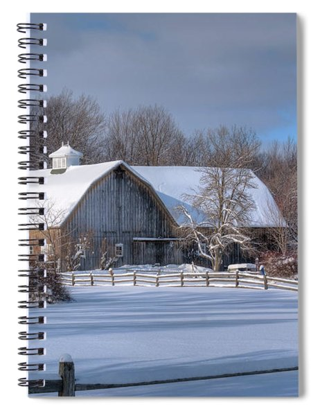 Winter On The Farm 14586 Spiral Notebook