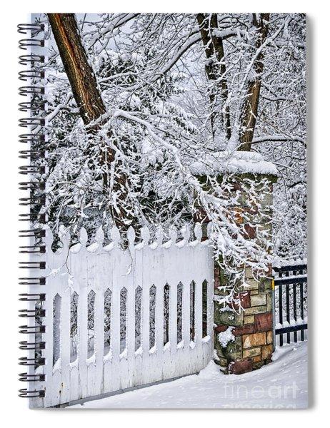 Winter Park Fence Spiral Notebook