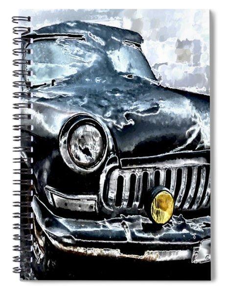 Winter Road Warrior Spiral Notebook