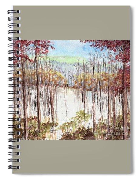Winter Scene Tracks Spiral Notebook