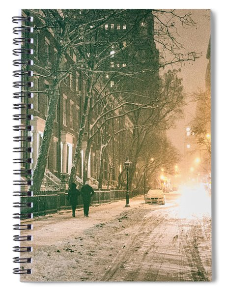 Winter - Snow - Washington Square - New York City Spiral Notebook