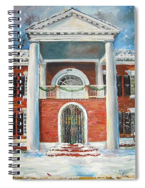 Winter Spirit In Dahlonega Spiral Notebook
