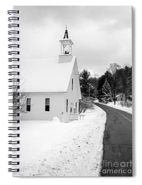 Winter Vermont Church Spiral Notebook