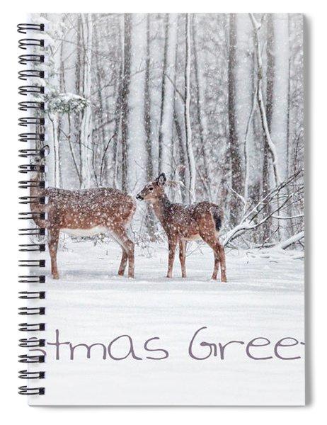 Winter Visits Card Spiral Notebook