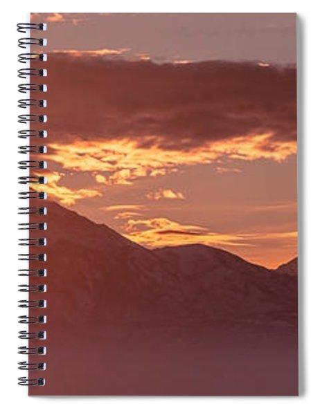 Winter Wasatch Daybreak Spiral Notebook