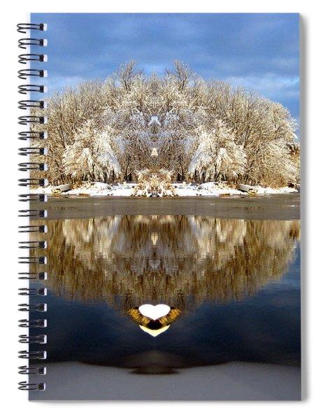 Winter Wonderland Love Spiral Notebook