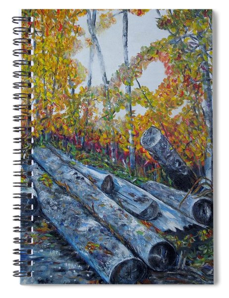 Winter's Firewood Spiral Notebook