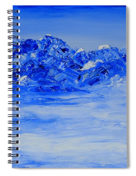 Winters Frosty Hues Spiral Notebook