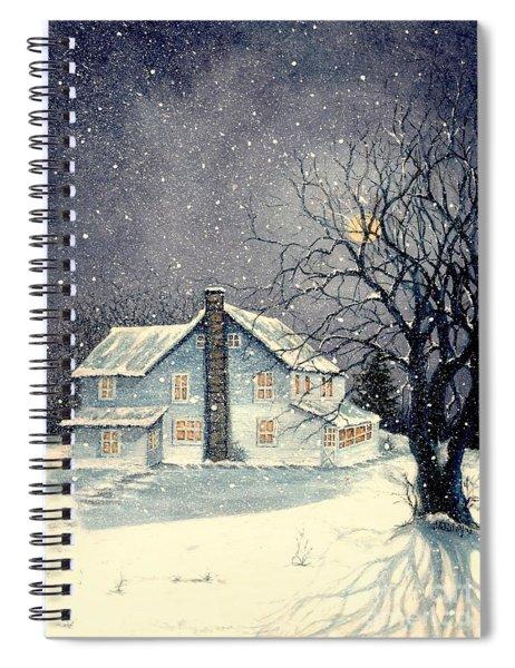 Winter's Silent Night Spiral Notebook