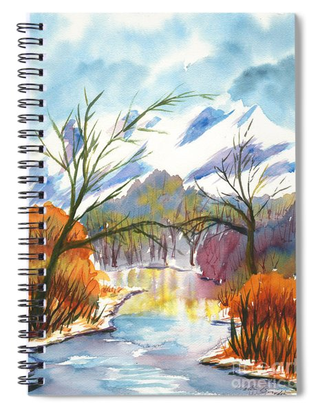 Wintry Reflections Spiral Notebook