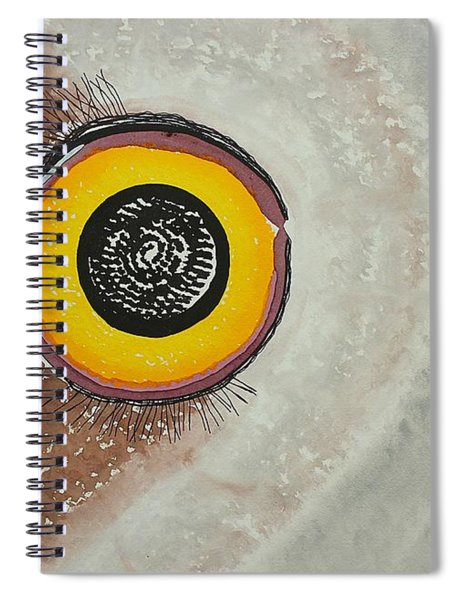 Wise Owl Original Painting Spiral Notebook