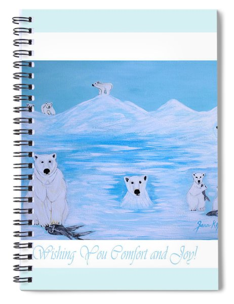 Wishing You Comfort And Joy Spiral Notebook