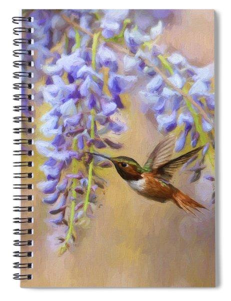 Wisteria Elegance Spiral Notebook