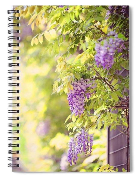 Wisteria Garden 11 Spiral Notebook