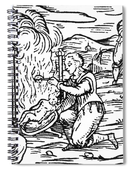 Witches Roasting And Boiling Infants Spiral Notebook