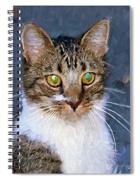 With Eyes On Spiral Notebook