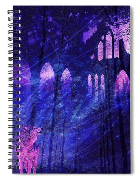 Wolf And Magic Spiral Notebook