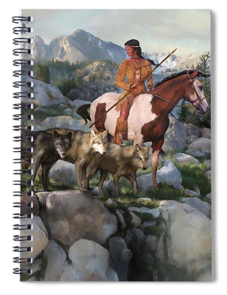 Wolf Maiden Spiral Notebook