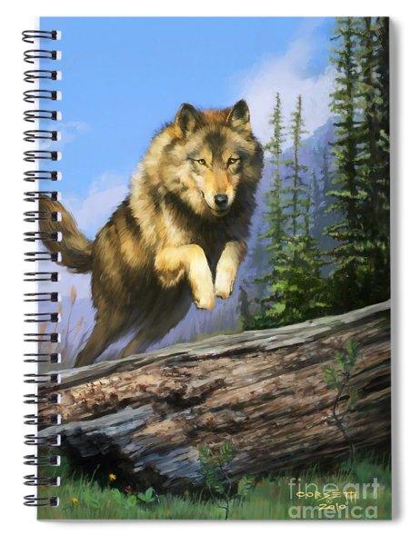 Wolf Run Spiral Notebook