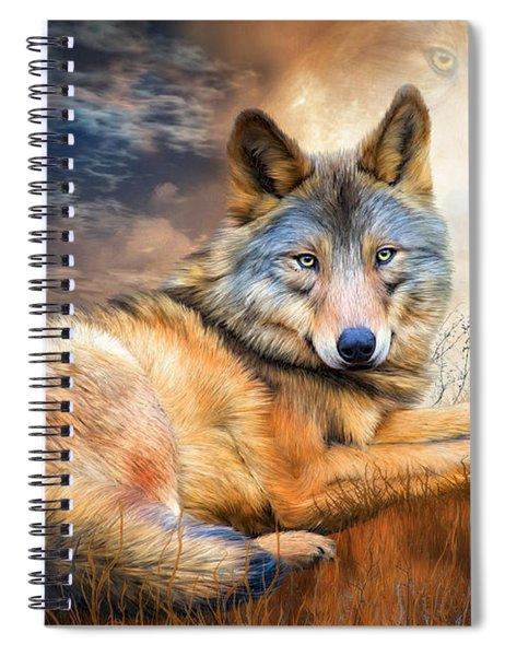 Wolf - Spirit Of Truth Spiral Notebook