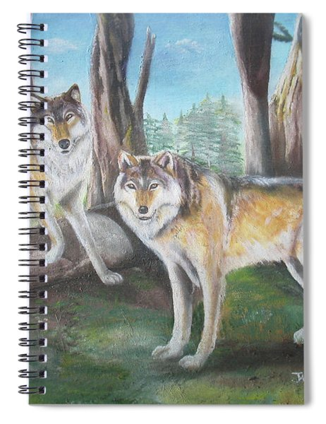 Wolves In The Forest Spiral Notebook