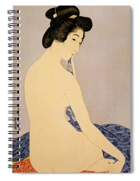 Woman After Bath Spiral Notebook