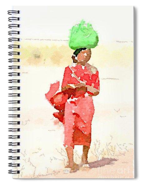 Woman Bag Spiral Notebook