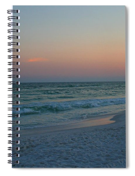 Woman On Beach At Dusk Spiral Notebook