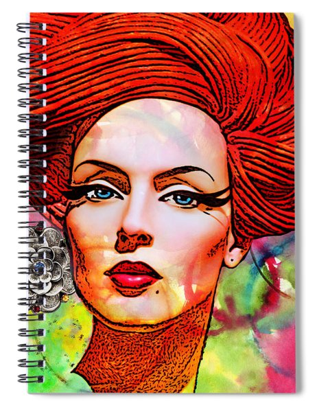Woman With Earring Spiral Notebook