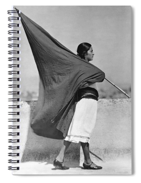 Woman With Flag, Mexico City, 1928 Spiral Notebook