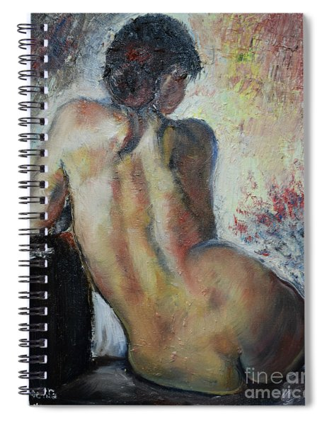 Woman's Back  Spiral Notebook